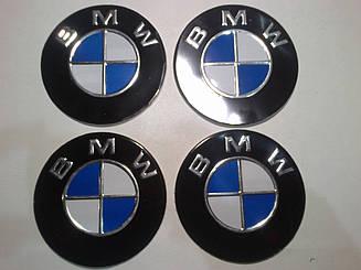Наклейка на колпачок диска BMW диаметр 90 мм
