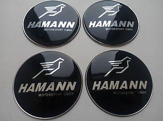 Наклейка выпуклая на колпачок диска BMW Hamann 65 мм