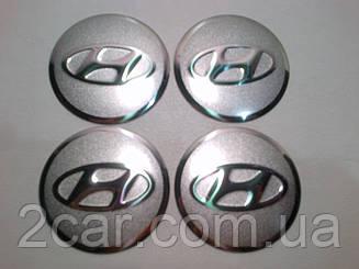 Наклейка выпуклая на колпачок диска Hyundai 56 мм