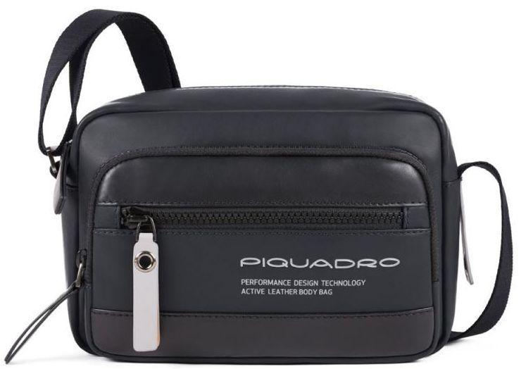 Мужская кожаная сумка Piquadro Downtown, черная