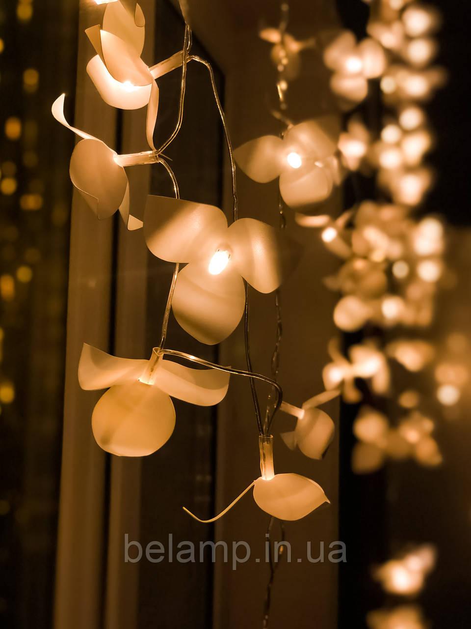 "Гирлянда-бахрома на окно  «Каскад орхидей"""