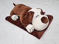 Игрушка подушка плед 3 в 1 Собака Chocolate