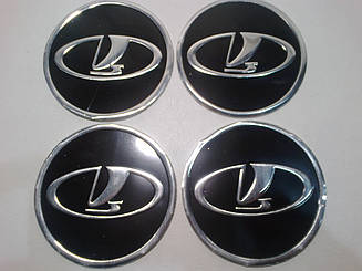 Наклейка на колпак диска Lada 90 мм