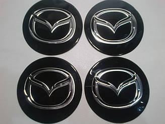Наклейка на колпак диска Mazda 90 мм