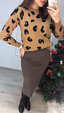 Женский теплый костюм с юбкой, фото 3