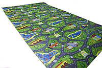 Детский теплоизоляционный развивающий игровой коврик Городок 2000×1100×12 мм