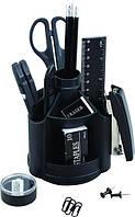 Набор настольный KLERK поворотный 360, 13 предметов, черный пластик KL0820