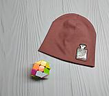 М 4520.Шапка трикотажна для дівчинки Vivatricko, 3-10 років, різні кольори, фото 5