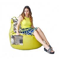 Кресло груша с карманом Люкскомфорт микс, фото 1