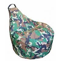 Кресло мешок Люкскомфорт с карманом Хаки
