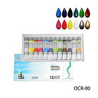 Акриловые краски на масляной основе  Lady Victory OCR-00, 12 шт. по 12 мл