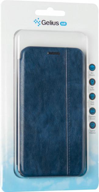 Чехол книжка на IPhone X синий кожаный защитный чехол Gelius для телефона.