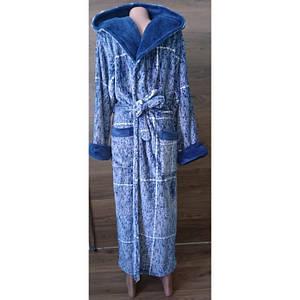 Мужской махровый халат с капюшоном и карманами 48-58 р