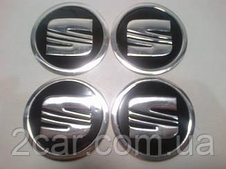 Наклейка на колпачок диска Seat 60 мм