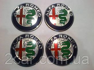 Наклейка выпуклая на колпачок диска Alfa Romeo 56 мм