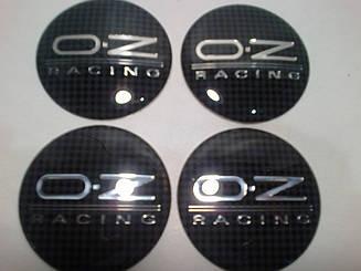 Наклейка выпуклая на колпачок диска OZ карбон 56 мм
