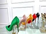 Туфли лодочки Christian Louboutin красные лак, фото 2