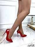Туфли лодочки Christian Louboutin красные лак, фото 3