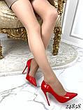Туфли лодочки Christian Louboutin красные лак, фото 5
