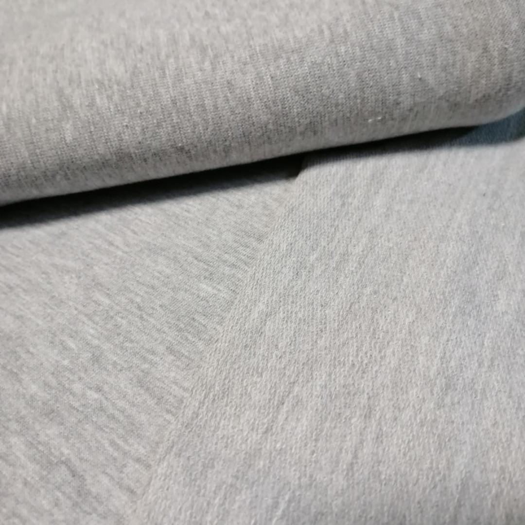 Трехнитка петля серый меланж, плотность 320 г/м2