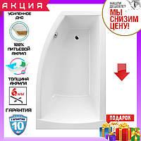 Асимметричная акриловая ванна 150x85 см Excellent Magnus WAEX.MGP15WH правосторонняя