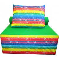 Бескаркасное кресло-кровать микс с принтом100-100-90 см Tia-sport