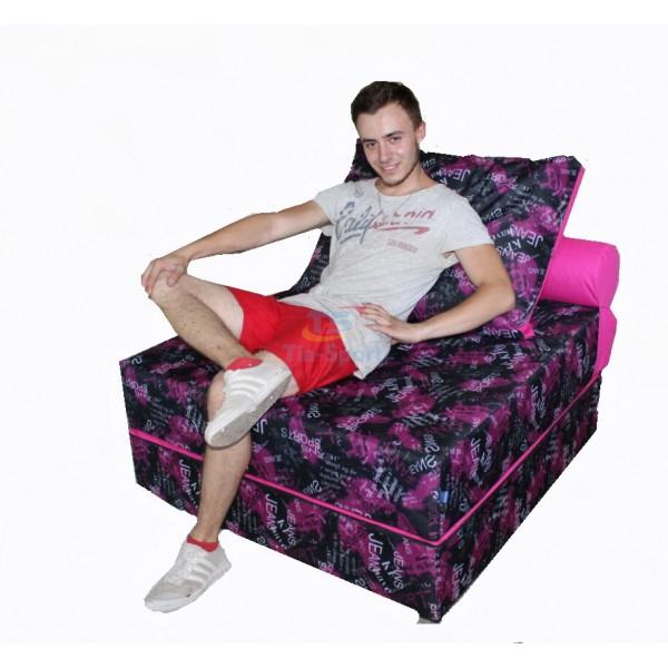 Бескаркасное кресло-кровать 100-100-90 см Tia-sport