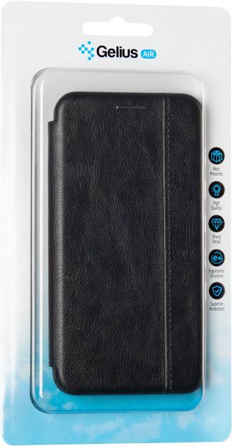 Чехол книжка на Meizu M6t черный кожаный защитный чехол Gelius для телефона.