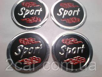 Наклейка на колпачок диска универсальная Sport 60 мм