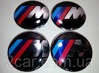 Наклейка выпуклая на колпачок диска BMW M-style 56 мм