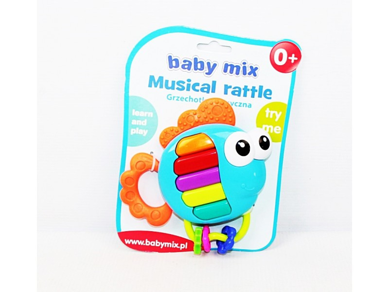 Яркая погремушка babyono baby mix
