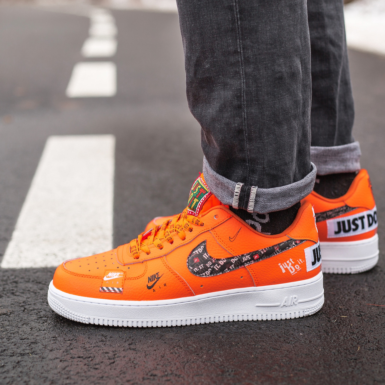 Кроссовки Nike Air Force Just Do It Orange
