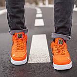 Кросівки Nike Air Force Just Do It Orange, фото 2