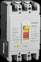 Выключатель автоматический ВА66-31 3Р 100А 18кА GENERICA (3 года гарантии)