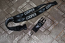 Шнурок на шею для ключей  Mini Cooper  чёрный