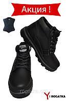 Мужские зимние кожаные ботинки, SPLINTER, черные, прошитые