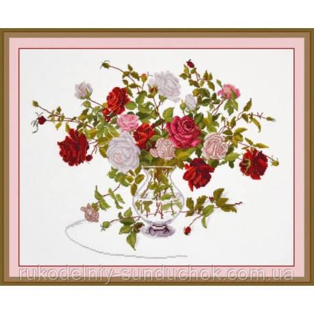 """Набор для вышивки крестом ТМ Овен """"Букет роз"""" 812"""
