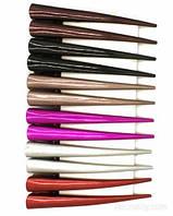 Зажим для волос цветной однотонный уп. - 12 шт.