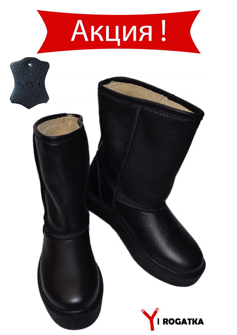 Женские кожаные сапоги, черные, высокая подошва