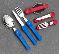 Походный набор складных столовых приборов А5005 (ложка, вилка, нож)