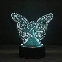 Настольный светильник 3D Бабочка