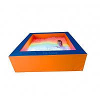 Сухой бассейн с подсветкой квадратный 200х60х20 см
