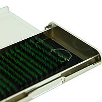 Ресницы омбре цвет зеленый M-Lashes 0.07 микс 8-15мм