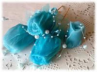 """Мыло """"Бутон роз"""" в органзе, фото 1"""