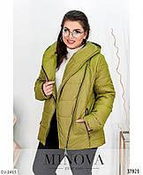 Модная куртка на весну больших размеров р-ры 50-64 арт. 17-191