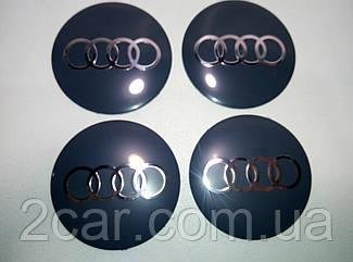 Наклейка выпуклая на колпачок диска Audi 120 мм