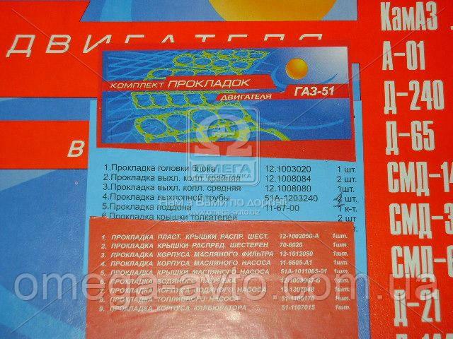 Ремкомплект двигателя ГАЗ 51,52 (15 наим.) (полн.компл.) (Украина) Ремкомплект-100051