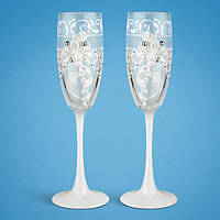 Свадебные бокалы, ручная работа, белый цвет, 2 шт (арт. TL-1560), фото 1