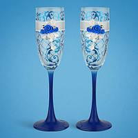Свадебные бокалы, ручная работа, синий цвет, 2 шт (арт. TL-1561), фото 1