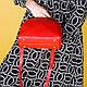Женская сумочка из натуральной кожи красного цвета, фото 2